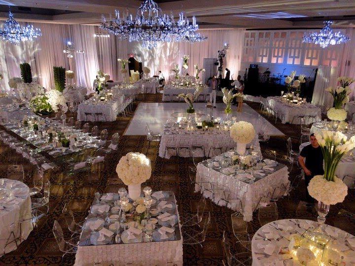 wedding rectangle table arrangements
