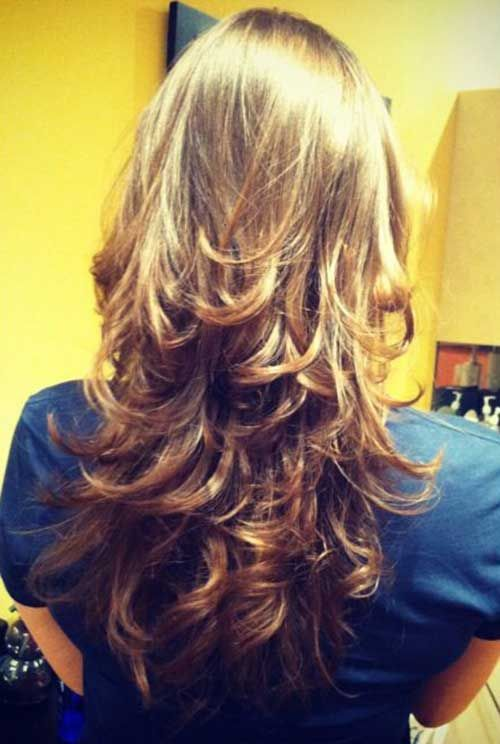 Image Result For Long Layered Hairstyles Back View
