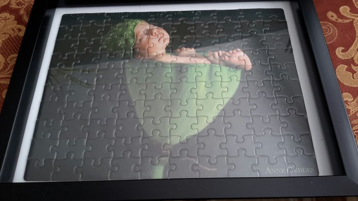 Anne Geddes puzzle completed 5 of 5