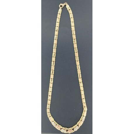 Fancy necklace in 18 kt gold 3 colors