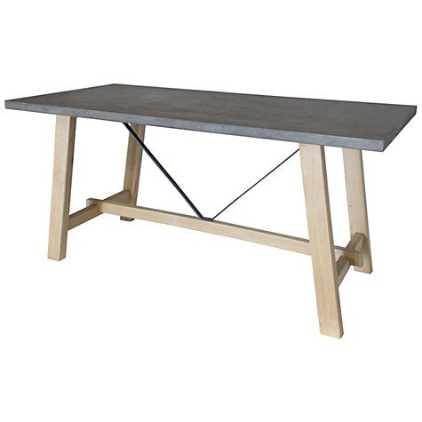 Buy Hudson Living Chilson Trestle 6-Seater Dining Table Online at johnlewis.com