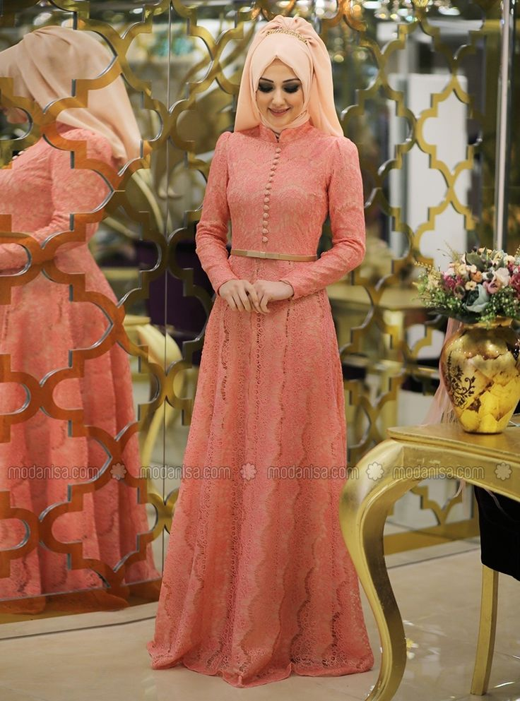Bade Evening Dress - Pink - Muslim Evening Dresses - Modanisa