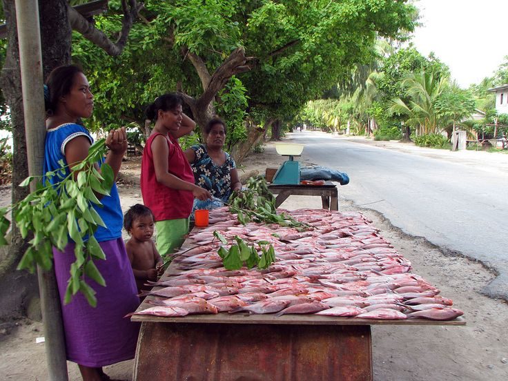https://flic.kr/p/7SsTXg | Kiribati 09481 | Fish sellers by roadside, South Tarawa, Kiribati