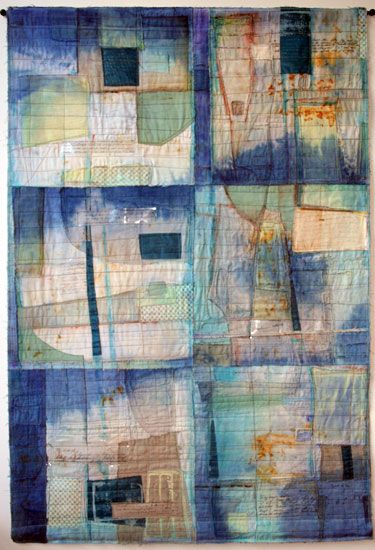 World War II Correspondence by Mary Stoudt. Art Quilt
