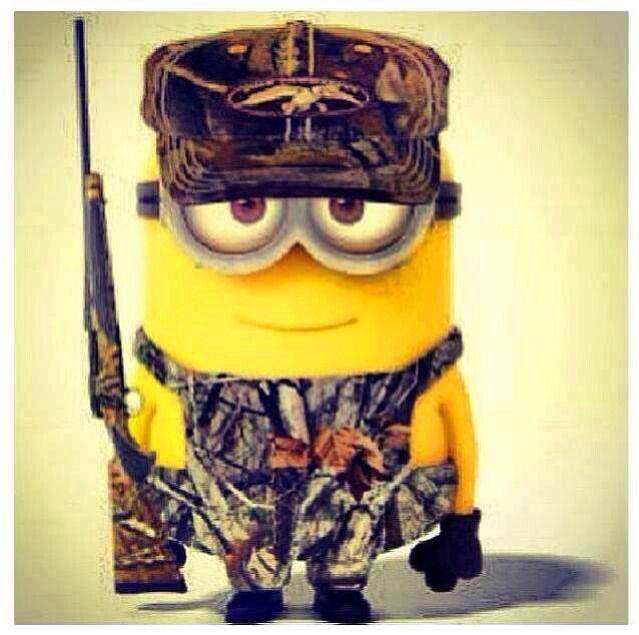 Camo minions...Duck Commander ball cap and all!