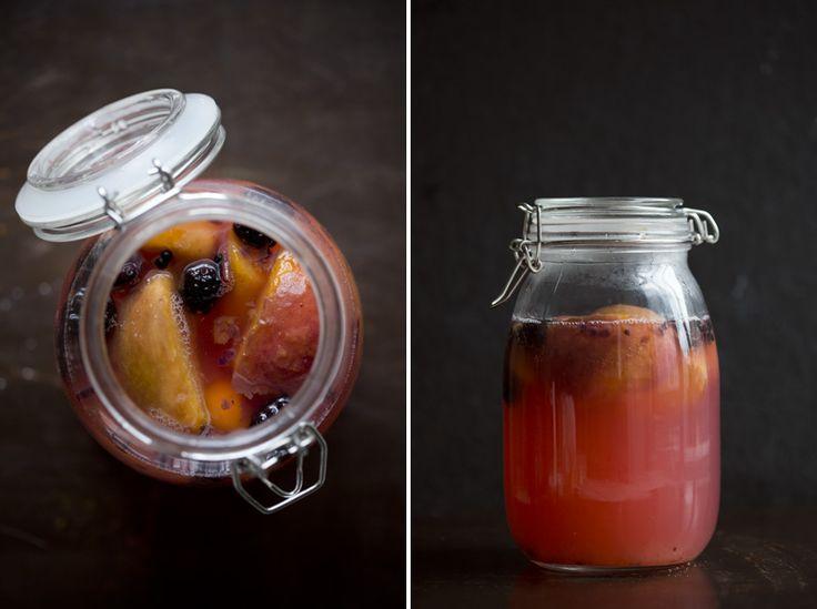 Fermented Fruit Kvass (peach, blackberry) (berry, raspberry, cardamom) (apple, raisins, cinnamon) (lemon, dried apricots, ginger) (mango, chai spices) (beet, apple, lemon balm) (nectarine, camomile) (blackberry, peach, vanilla bean) (dried prunes, lemon, ginger)
