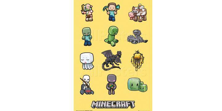 Póster de los personajes de Minecraft. NOVEDAD. 4.99€. #ofertas #descuentos