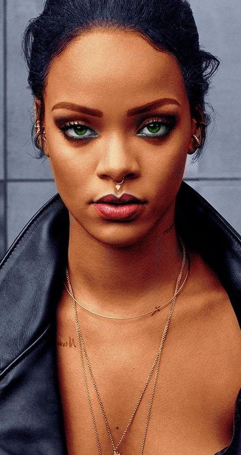 Rihanna Makeup Edit Beauty Fashion Style Hair Inspiration