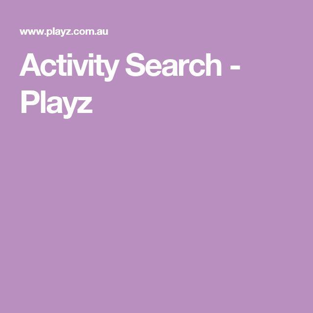 Activity Search - Playz