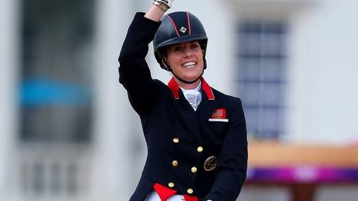 Charlotte Dujardin of Great Britain riding Valegro