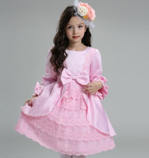 Product:dress Color:pink Material:polyester Closure: zipper Decoration: ruffles,lace,bows Style: casual/fashion/play time for little girls Dress Length:Knee Length,mid-calf Uses:wedding, birthday,...@ artfire