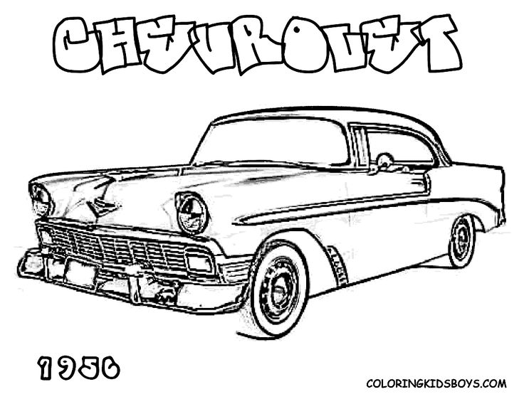 hot cars coloring pages | vintage cars coloring pages