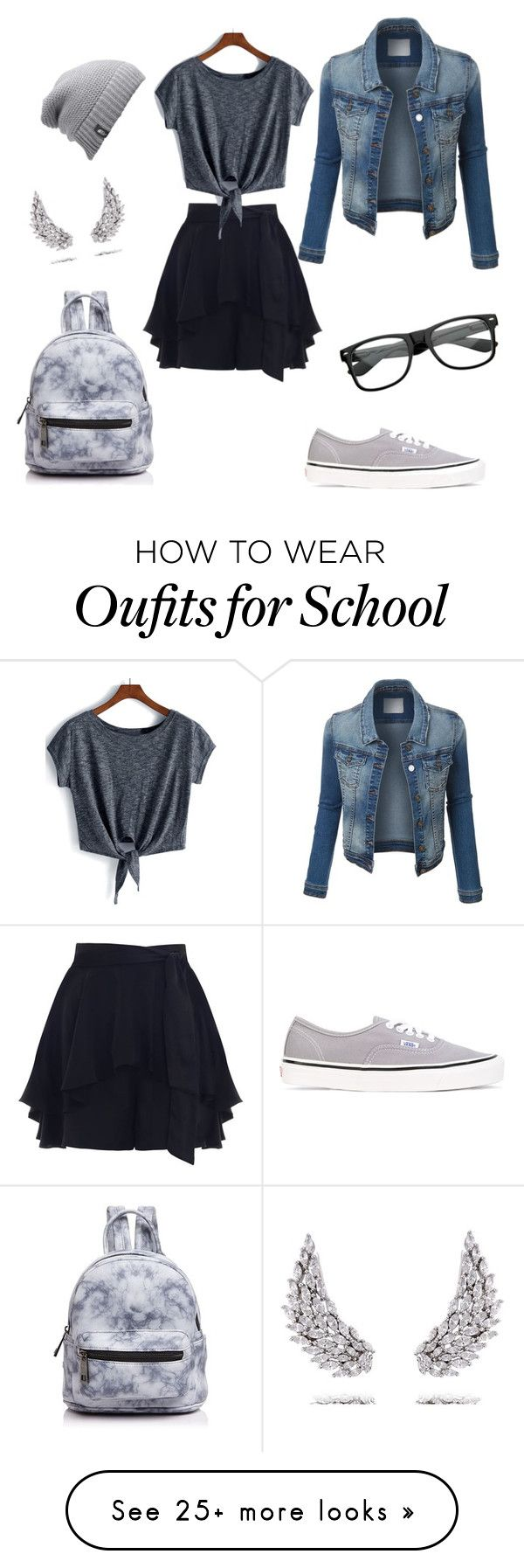 """""""School #1"""" by timazohra on Polyvore featuring Apples & Figs, Zimmermann, The North Face, Vans, Street Level and ZeroUV"""
