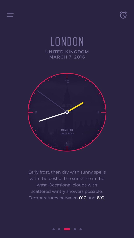 Ios analog clock