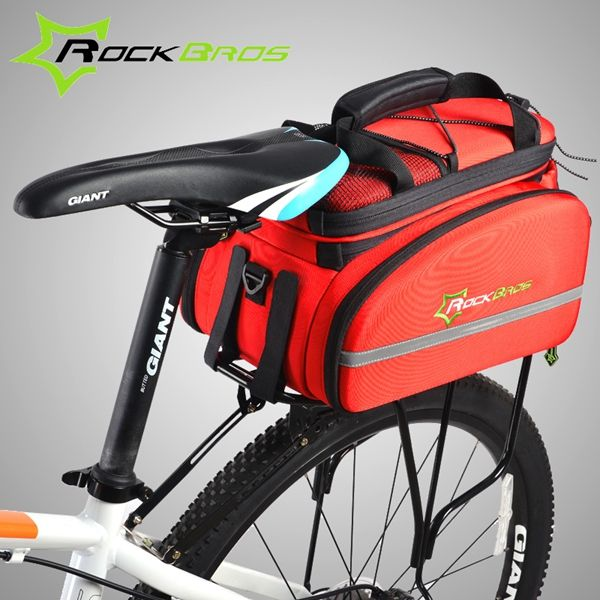 ROCKBROS Cycling Rack Bag Bicycle Bag Rear Trunk Bag Carry Bag Mountain Bike Backpack | Alex NLD