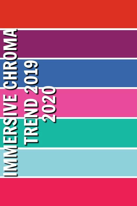 IMMERSIVE CHROMA / FALL WINTER 2019-2020 | Trends 2019
