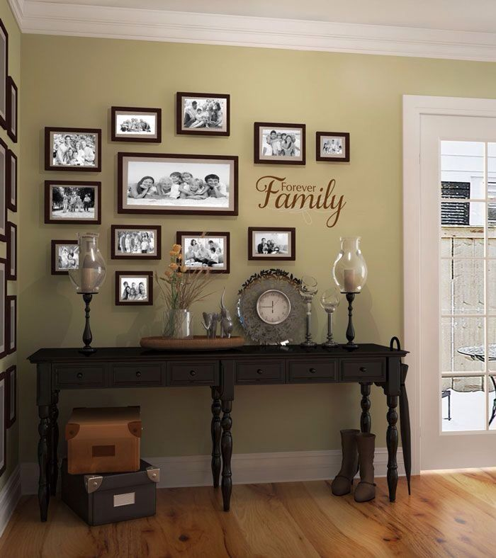 51 best organizing picture frames images on pinterest for Picture frames organized on walls