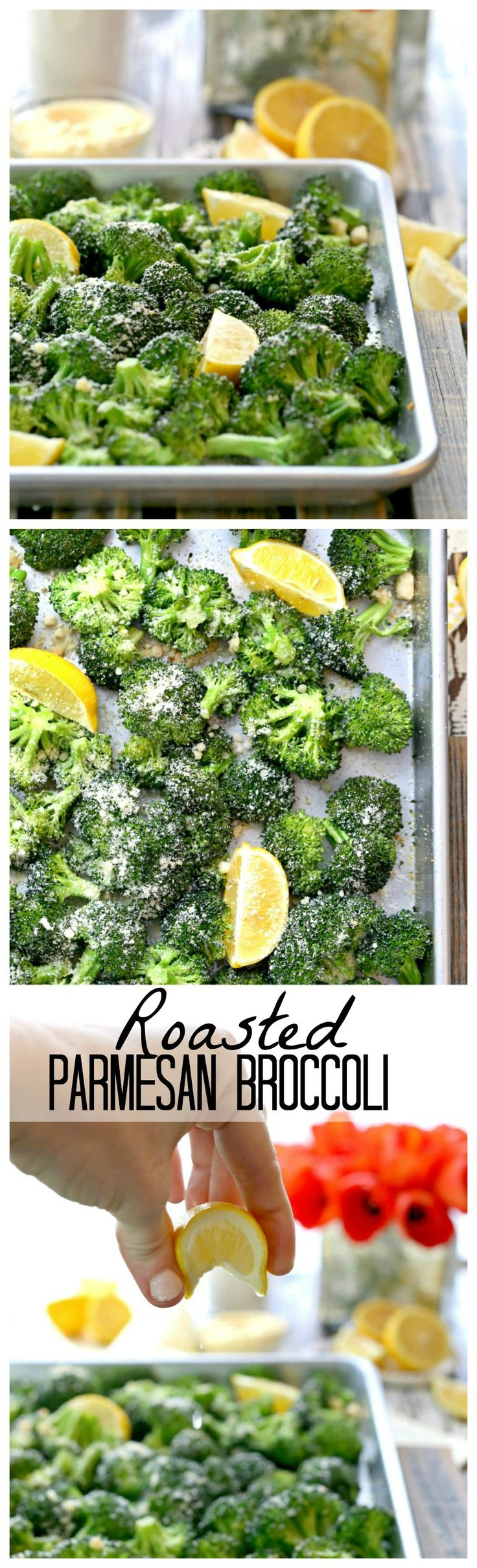 Roasted Parmesan Broccoli with Garlic and Lemon, HEAVEN! This is the BEST and…