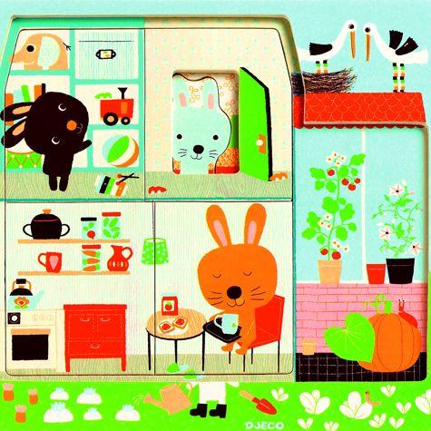 vrstvené puzzle pro nejmenší – králíčci   Dětské hračky pro holky i kluky   ookidoo.com