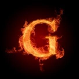 Burning Letter G