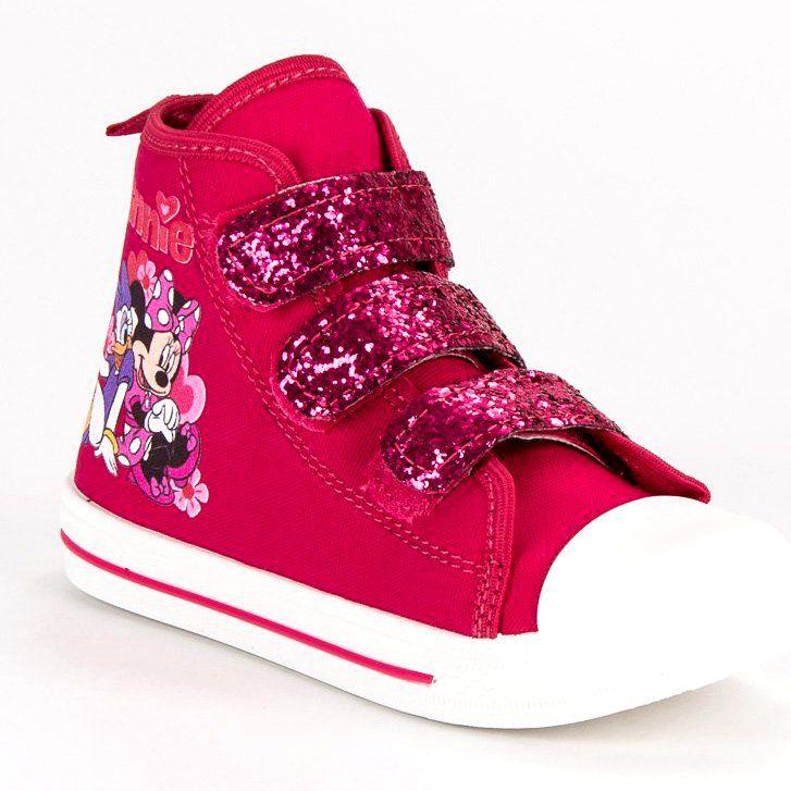 Buty Sportowe Dzieciece Dla Dzieci Butymodne Rozowe Trampki Na Rzepy Myszki Miki Wedge Sneaker High Top Sneakers Shoes