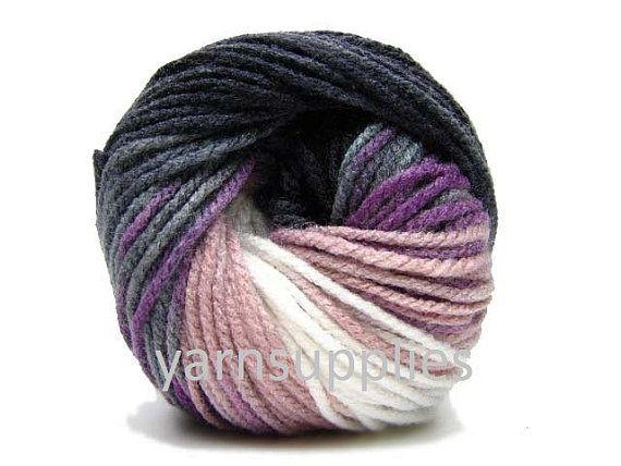 colorful yarn acrylic yarn knit yarn batik design by yarnsupplies, $4.75