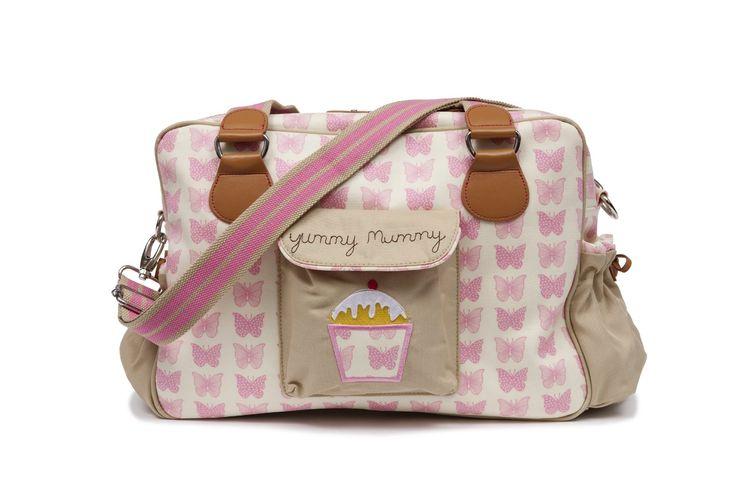 Pink Lining 12SS197 Wickeltasche Yummy Mummy Pink Butterflies: Amazon.de: Baby