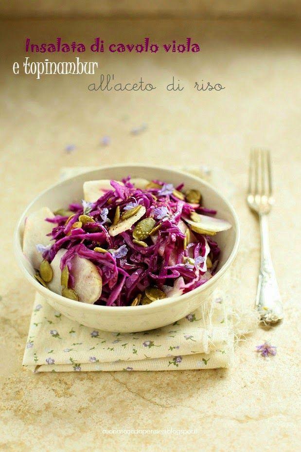 Insalata di cavolo viola e topinambur all' aceto di riso | Cucina Scacciapensieri