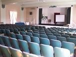 Our historical auditorium seats 220 and can be rented by the public for $50 per hour.
