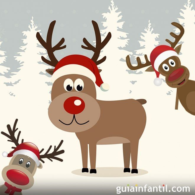 El Reno Rudolph Cuento De Navidad Para Ninos Poemas De Navidad Navidad Ninos Renos Navidenos
