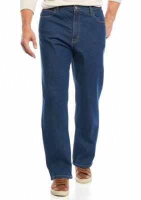 Saddlebred Men's Big & Tall 5 Pocket Classic Stretch Jeans - Dark Stone - 52 X 30