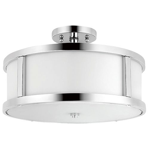 3-light Semi-flushmount