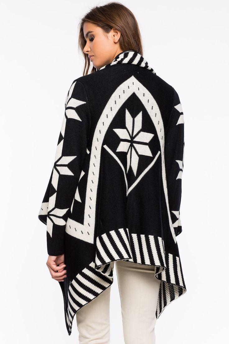 Кардиган Размеры: S/M, M/L Цвет: черный с принтом Цена: 2210 руб.     #одежда #женщинам #кардиганы #коопт