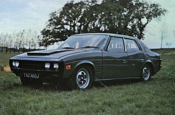 if a Rover P6 and a Marcos Mantis (late 60's one) had a love child. Rover P8, 1971