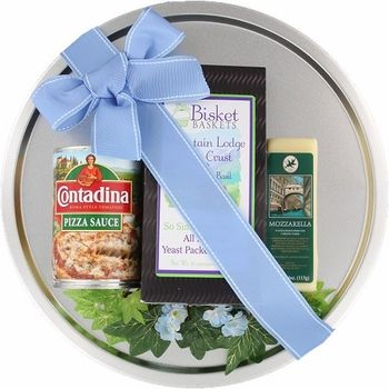 Need a gift for a college student, new homeowner, or for a coworker? This Savory Pizza Kit meal gift basket is the answer! It has a pizza pan and all of the ingredients they need for a delicious meal in. They'll also appreciate having to figure out what's for dinner too!