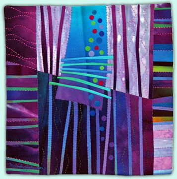 Melody Johnson: Art Quilts - Galleries - Streets and Rivers Series