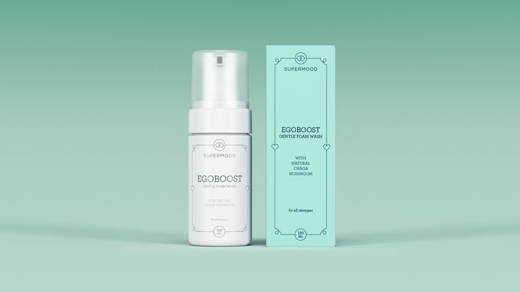 Supermood Egoboost - Gentle Foam Wash 120ml | Gentle, foamy and effective facewash with natural Chaga.