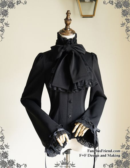Fanplusfriend Pirate Gothic Ouji Prince Stand Up Collar Blouse Cravat&Jabot