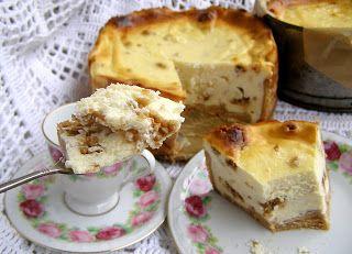 W Mojej Kuchni Lubię.. : sezamkowy aksamitny sernik na spodzie z herbatnikó...