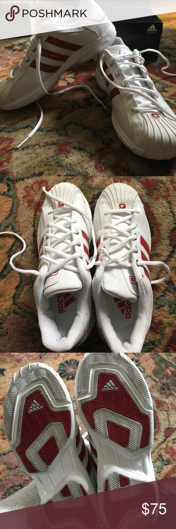 Adidas Superstar 2G Ultra J basketball shoes Only worn a couple of times. Clean, in perfect condition. Men's 5/ or women's 6 Adidas Shoes Athletic Shoes