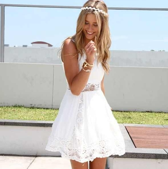 Forget little black dresses — little white dresses are taking the reins as the new staple wardrobe item. And for good reason: They are not only fresh and functional, they're fashionable too.