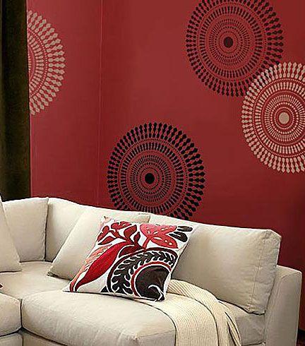 Funky wheel wall stencil see more wall art stencils http www