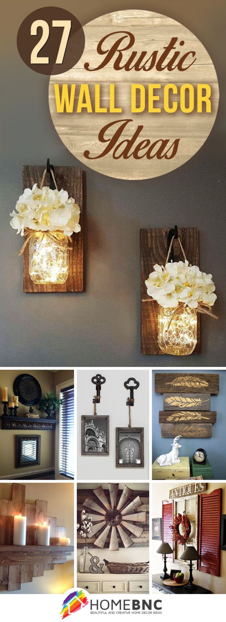 Love the mason jar lights or the keys with picture frames                                                                                                                                                                                 More