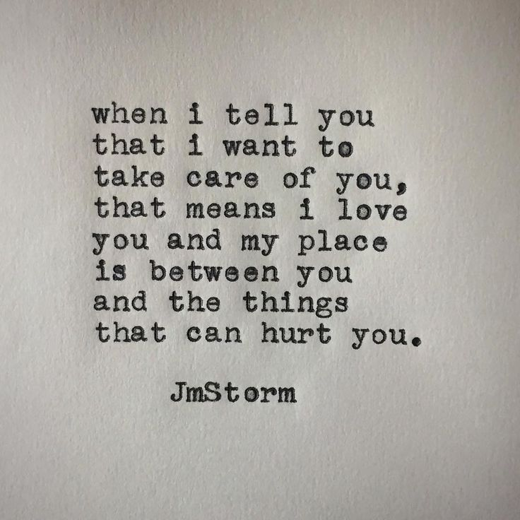 Taking care of you  #jmstorm #jmstormquotes