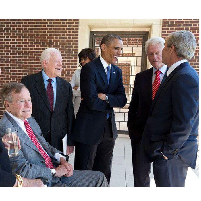 ÉTATS-UNIS :: USA: IL YA UNE VIE APRES LA PRESIDENCE, LES 5 DERNIERS PRESIDENTS DES USA TOUS ENSEMBLE... :: UNITED STATES - Camer.be