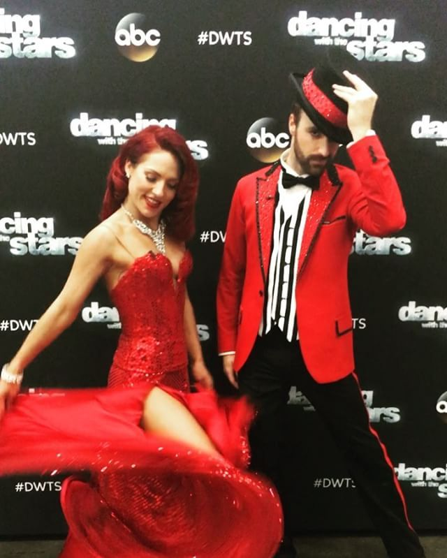 Let's hope we're still celebrating after tonight's double elimination,@hinchtown! Tune in to @dancingabc live at 8/7c! #DWTS #TeamStopAndGo