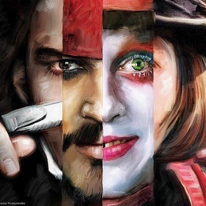 Jhonny Depp self portrait