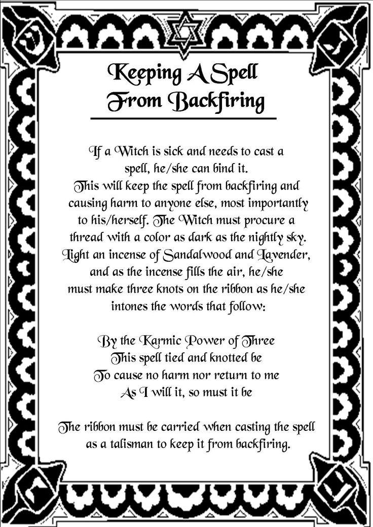Magick Spells:  Keeping a #Spell from Backfiring.