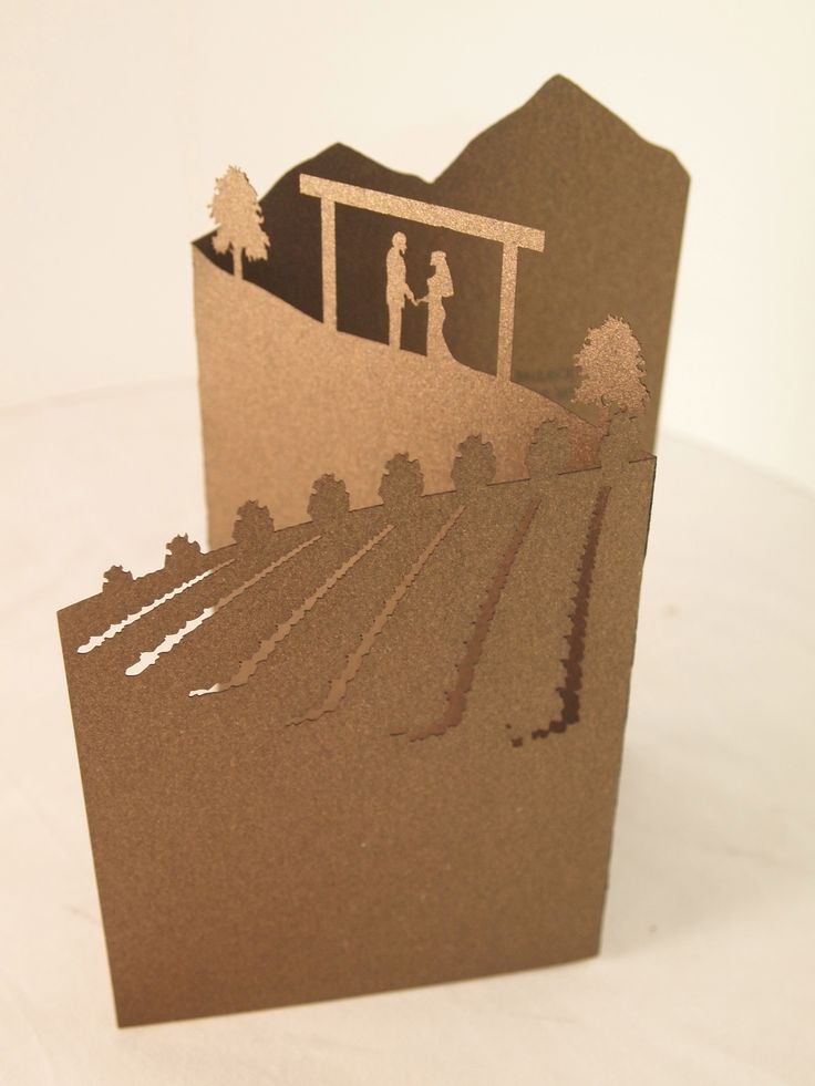 Laser cut invitations perfect for a forest