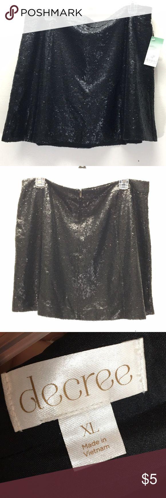 Black Sequins Skirt Brand new sequins skirt never worn! Decree Skirts
